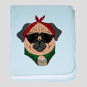Thug Pug baby blanket