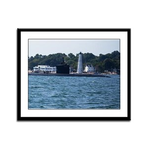 Boat & Lighthouse Homecoming Framed Panel Print