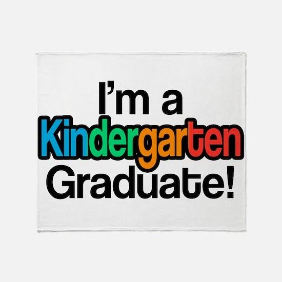 Rainbow Kindergarten Graduate Gradua Throw Blanket
