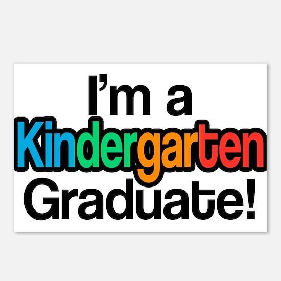 Rainbow Kindergarten Grad Postcards (Package of 8)