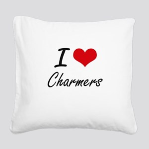 I love Charmers Artistic Desi Square Canvas Pillow