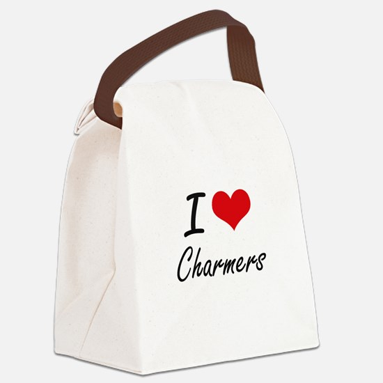I love Charmers Artistic Design Canvas Lunch Bag
