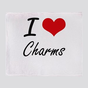 I Love Charms Artistic Design Throw Blanket