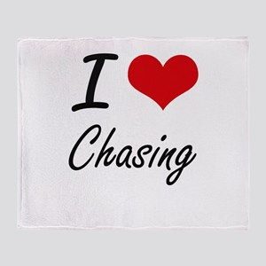 I love Chasing Artistic Design Throw Blanket