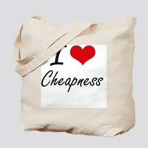 I love Cheapness Artistic Design Tote Bag