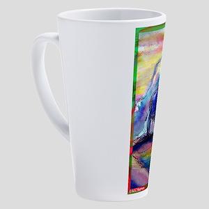 Buffalo, colorful, art! 17 oz Latte Mug