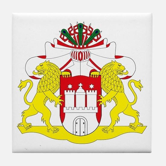 Hamburg Coat of Arms Tile Coaster