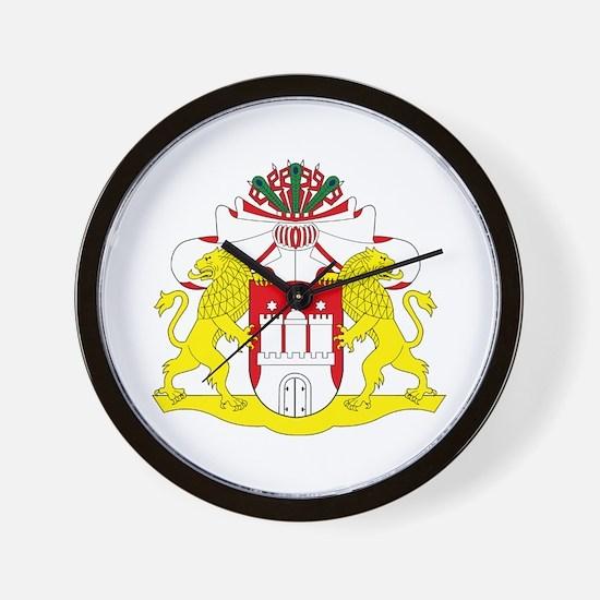 Hamburg Coat of Arms Wall Clock