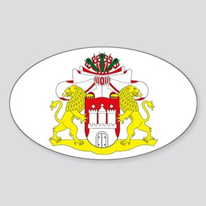 Hamburg Coat of Arms Oval Sticker