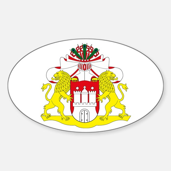 Hamburg Coat of Arms Oval Decal
