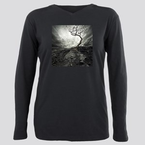 Dark Tree Plus Size Long Sleeve Tee