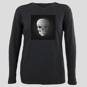Chrome Skull Plus Size Long Sleeve Tee