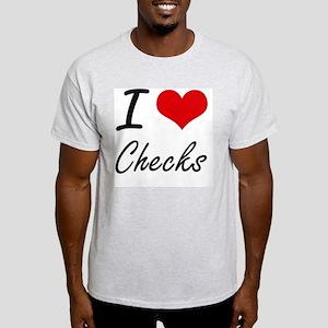 I love Checks Artistic Design T-Shirt