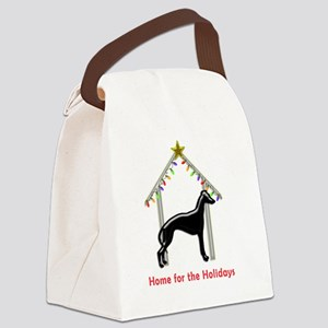 Forever Home for Greyhounds Chris Canvas Lunch Bag