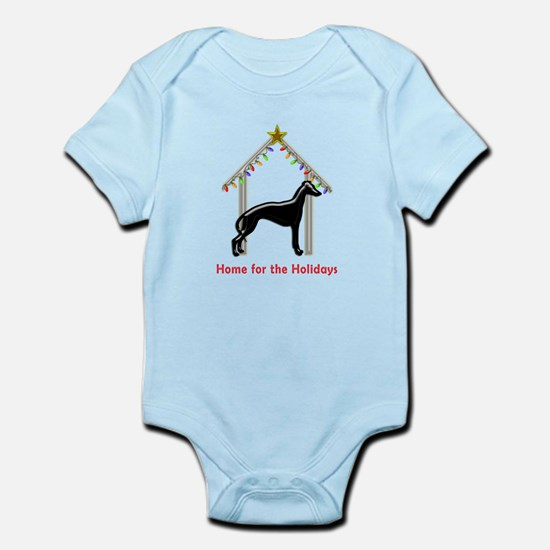 Forever Home for Greyhounds Christmas Body Suit
