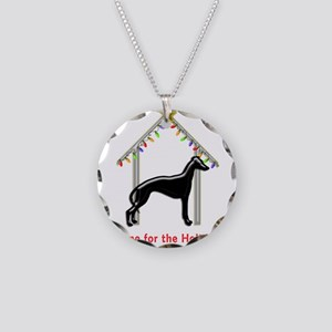 Forever Home for Greyhounds Necklace Circle Charm