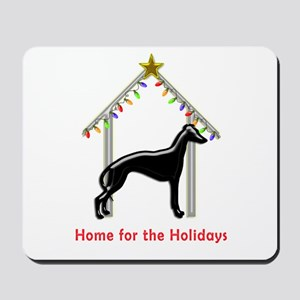 Forever Home for Greyhounds Christmas Mousepad