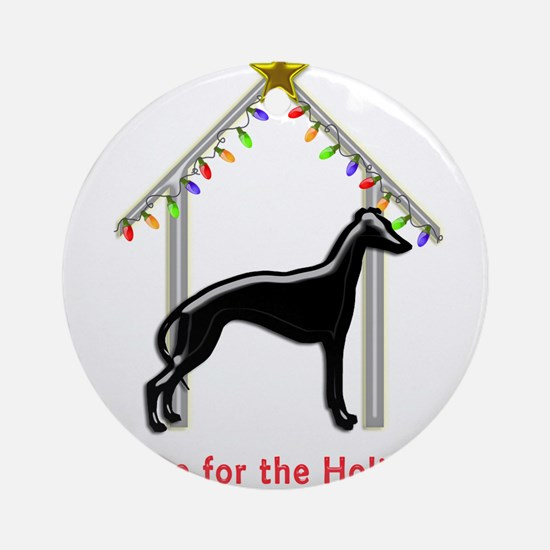 Forever Home for Greyhounds Christm Round Ornament