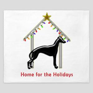 Forever Home for Greyhounds Christmas King Duvet