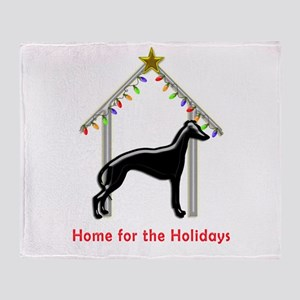Forever Home for Greyhounds Christma Throw Blanket