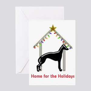 Forever Home for Greyhounds Christm Greeting Cards