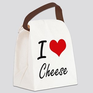 I love Cheese Artistic Design Canvas Lunch Bag