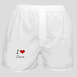 I love Cheese Artistic Design Boxer Shorts