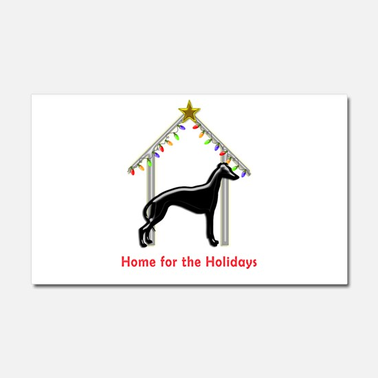 Forever Home for Greyhounds Chr Car Magnet 20 x 12