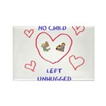 No Child Left Unhugged Rectangle Magnet (100 pack)