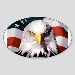 American Bald Eagle with Flag Sticker