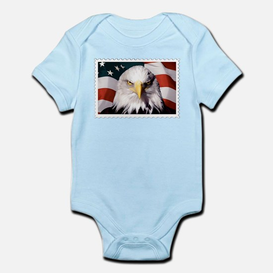 American Bald Eagle with Flag Body Suit