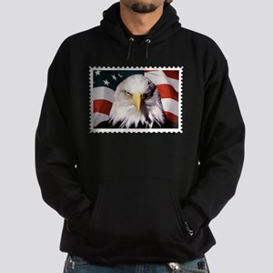 American Bald Eagle with Flag Hoodie (dark)