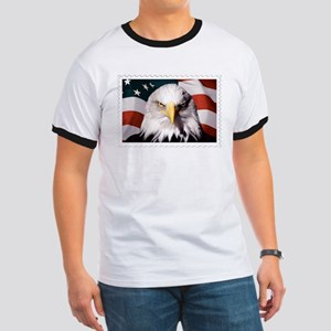 American Bald Eagle with Flag T-Shirt