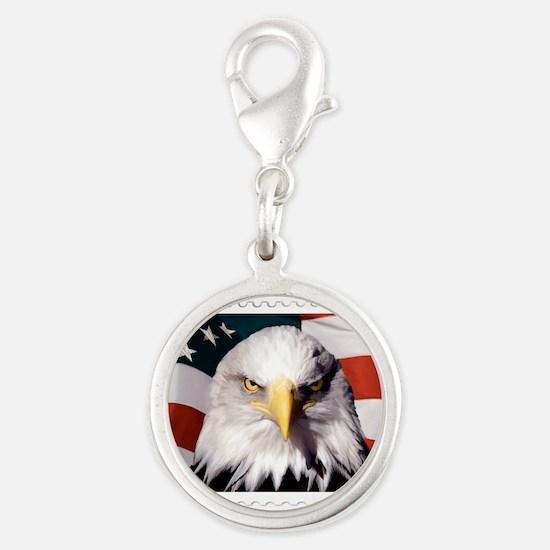 American Bald Eagle with Flag Charms