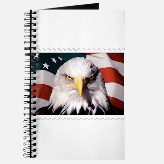 American Bald Eagle with Flag Journal