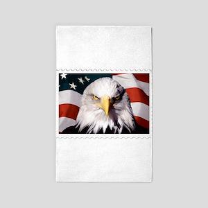 American Bald Eagle with Flag Area Rug