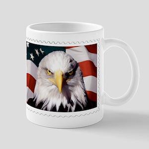 American Bald Eagle with Flag Mugs