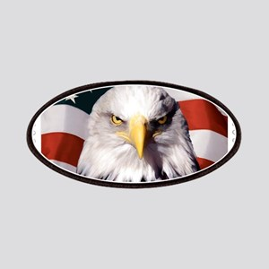 American Bald Eagle with Flag Patch