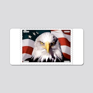 American Bald Eagle with Fl Aluminum License Plate