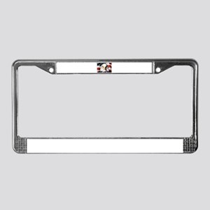 American Bald Eagle with Flag License Plate Frame