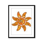 Radiant sun, I AM, awake Framed Panel Print