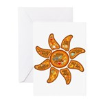 Radiant sun, I AM, awake Greeting Cards