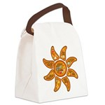 Radiant sun, I AM, awake Canvas Lunch Bag