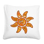 Radiant sun, I AM, awake Square Canvas Pillow