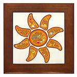 Radiant sun, I AM, awake Framed Tile