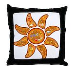 Radiant sun, I AM, awake Throw Pillow