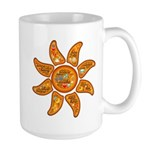 Radiant sun, I AM, awake Mugs