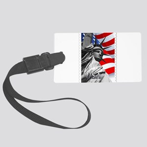GRAPHIC STATUE OF LIBERTY WITH F Large Luggage Tag