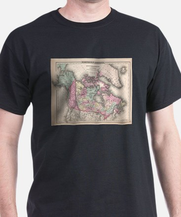 Vintage Map of Canada (1857) T-Shirt