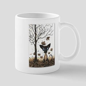 Fall Feline Mugs